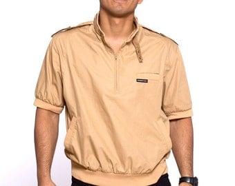 VTG 80's Member's Only Tan Short Sleeve Versitile Summer Jacket