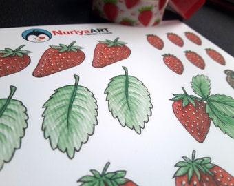 Stickersheet   Strawberries
