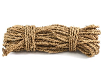 Natural Coconut Fiber Rope, 6mm, 21 Yards