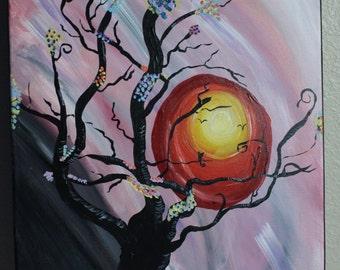 Sun Rise Tree - 16x20