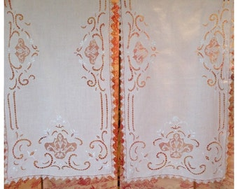 popular items for antique lace panel on etsy