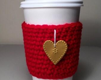 Coffee Cup Cozy, Coffee Sleeve, TOGO Cup Cozy, Crochet Coffee Cup Cozy, Tea Cup Sleeve, Gift Under 10
