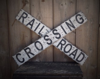Rail Road Sign, wood Rail Road sign, farmhouse, farmhouse wall decor, rustic farmhouse, distressed sign, farmhouse sign, kitchen sign, sign