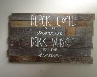 Handmade wooden quote sign