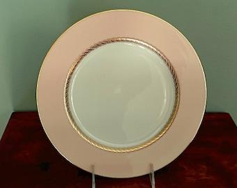 Lenox Caribbee Dinner Plate Vintage Pink China