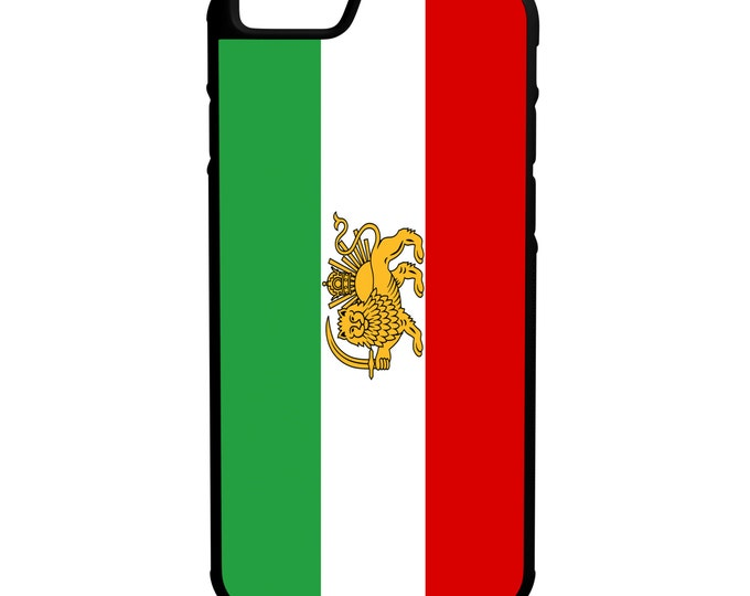 Flag of Iran Pre Revolution iPhone Galaxy Note LG HTC Hybrid Rubber Protective Case