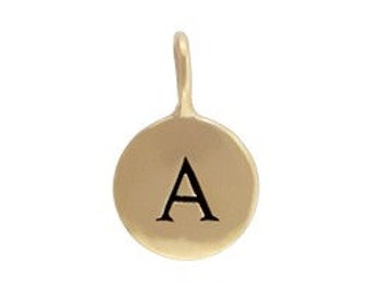 Initial Charm Disk in natural bronze.