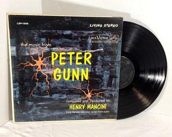 Peter Gunn TV Soundtrack vinyl record 50s Henry Mancini VG+/EX