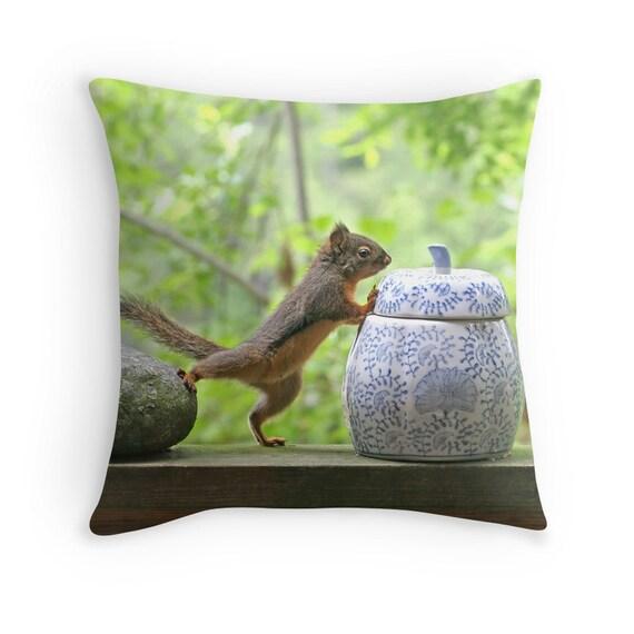 Squirrel Cushion Woodland Pillow Cute Animal Pillow