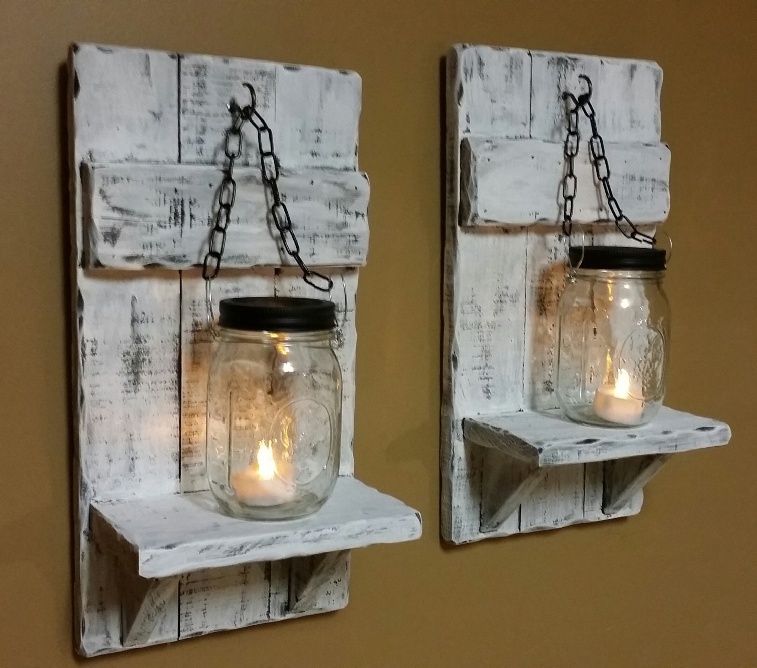 Distressed candle holder rustic candles mason jar candle zoom amipublicfo Image collections
