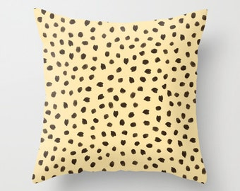 Cheetah Pillow, Apartment Decor, Velvet Pillow, Animal Print Pillow, Cheetah Cushion Cover, Dorm Pillows, Teen Decor, New Apartment Gift