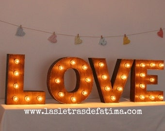 16 inches Light letter. Iluminated Letter. Wood Letter Great for any event :)