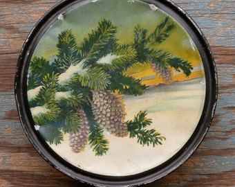Vintage Pinecone Canco Beautébox Tin