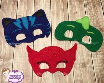 PJ masks, Owlette Mask, Gekko Mask, Cat Boy Mask