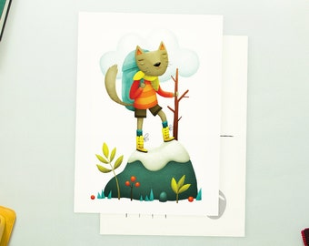 Climb Cat Postcard