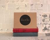 Danke German Thank You Card : Recycled Kraft Paper