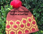 Knitting Pattern - The Overlook Hat - Inspired by the Carpet in the Hotel Overlook, from The Shining - PDF Download - Instant Delivery