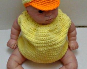 Baby Duck Crocheted Costume