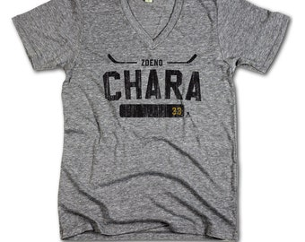 Zdeno Chara NHLPA Officially Licensed Boston Men's V-Neck XS-2XL Zdeno Chara Athletic K