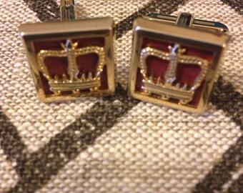 Vintage Hickok crown cuff links