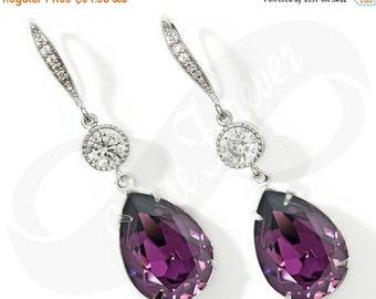Bridesmaid Earings Amethyst Earings Purple Earings Bridal Jewelry Bridesmaid Jewlery Bridal Jewlery Wedding Earrings Bridesmaid Gift