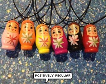 Russian Matryoshka Doll Choker/Necklace