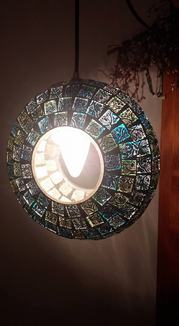 Mosaic Bird Feeder Light
