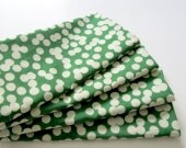 Large Cloth Napkins - Set of 4 - Big Green Bokeh Dots - Dinner, Table, Everyday, Wedding