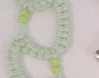 bracelet, tatted lace, handmade
