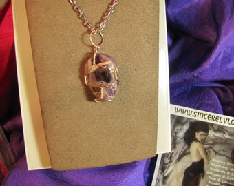 Purple Banded Amethyst Healing Stone Necklace