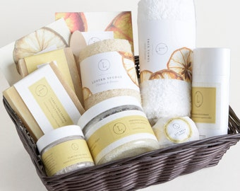 Citrus Spa Gift Set, Birthday Gift Set, Spa Gift Box, Spa Gift Set