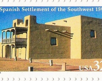 Qty of 10 Spanish Settlement 32 cent 1990's vintage postage stamps, These stamp are in excellent unused condition.