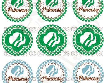 "1"" Digital Bottle Cap Sheet **INSTANT DOWNLOAD** Girl Scouts"