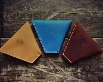 Handmade Leather 'FLIP-FLOP' wallet/coin purse