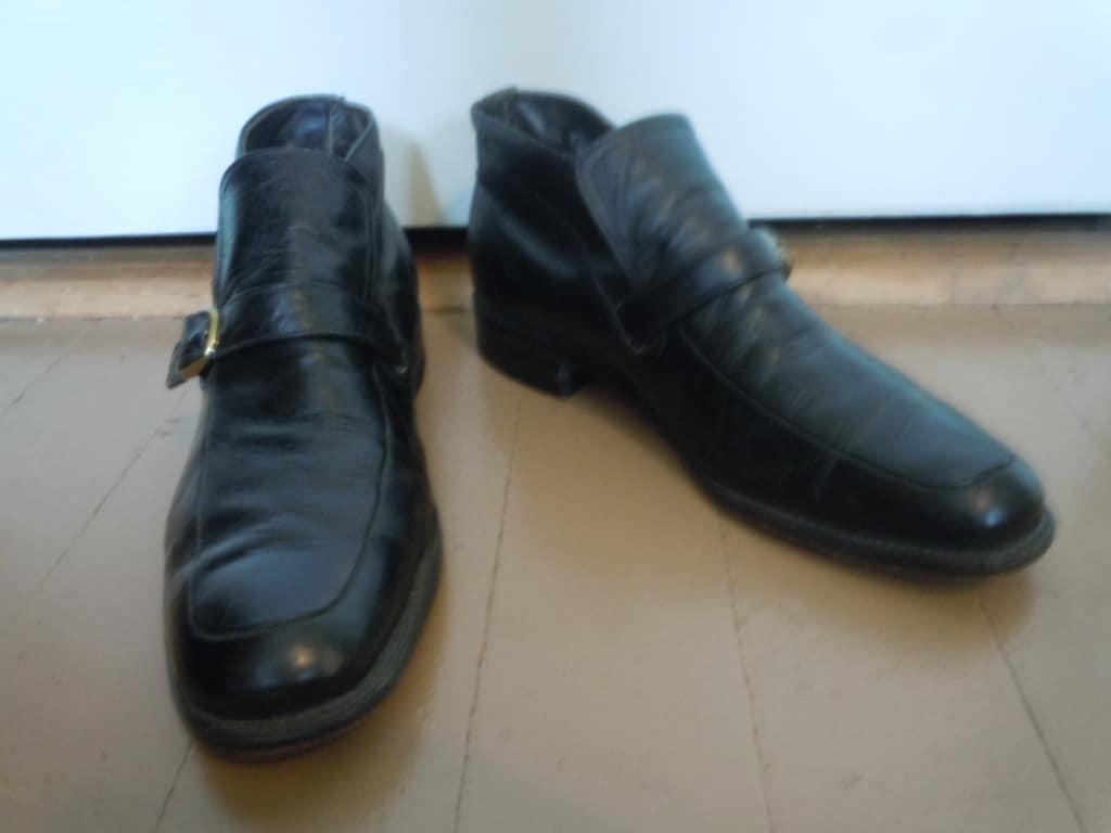 cool 1960s black mod dress boots size 10 d