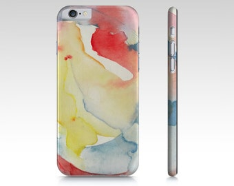 iPhone case, Samsung Galaxy s4 case with fine art design. Bright summer colors Abstract watercolor design