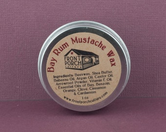 Bay Rum Mustache Wax - 1 oz