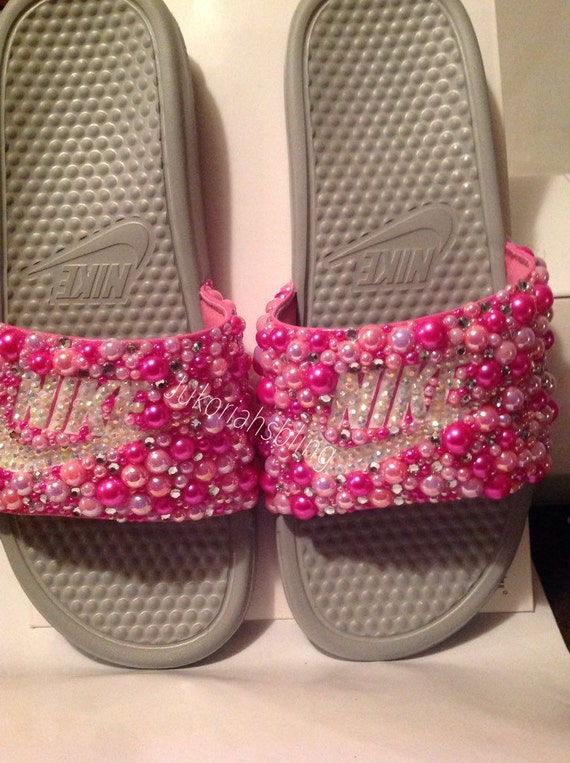 cbcf0191ebeea6 Bling nike slides nike shoes accessories by Jukoriahsbling on Etsy 60%OFF