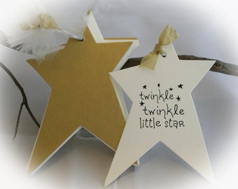 25 WISHTag Book-Book Baby Shower- Guest book alternative and wishing tree tags all in one-Twinkle Twinkle- Baby Shower Game -Ivory cardstock