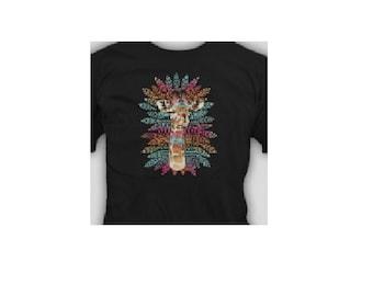 tribal giraffe  t-shirt  Tee  gift cool funny t shirt
