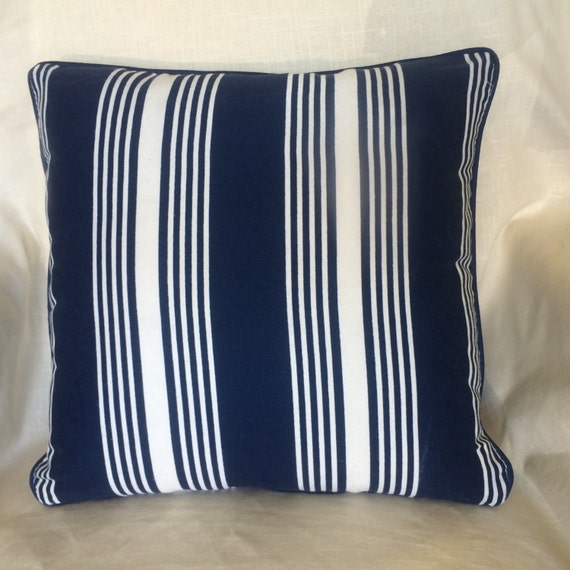 navy blue and white stripe pillow. Black Bedroom Furniture Sets. Home Design Ideas