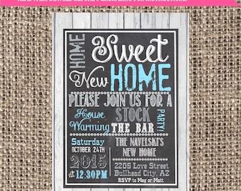 Stock The Bar Housewarming Party ***digital file*** change wording! (Home-hshBar)