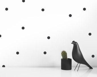 Wall Decals - Modern Black Polka Dots |  Modern Nursery| Modern Baby room  decor ideas | Modern nursery decor