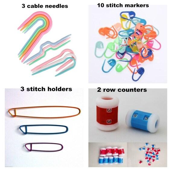 Knitting Accessories Kit : Knitting accessories kit stitch holders by zanycraftsuk