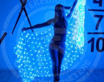 LED light silk belly dance veil 300 LEDs