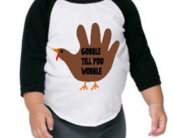 Gobble till you wobble raglan