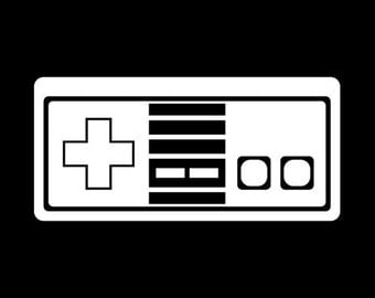 Nintendo NES Super Nintendo Old School Retro Video Game Controller Vinyl Decal Sticker