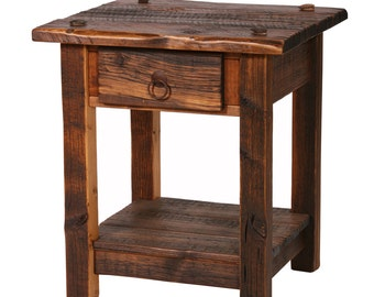 Rustic Nightstand, Heritage Nightstand, Reclaimed Wood Furniture, Reclaimed Wood Nightstand