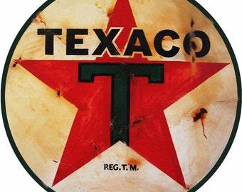 "Reproduction 14"" round Texaco sign RG4375"
