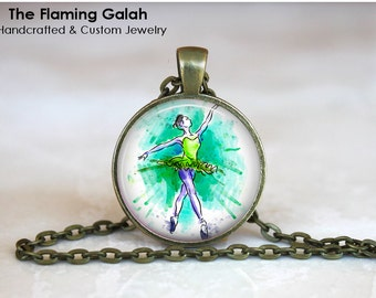 BALLET Pendant • Ballerina • Dance Teacher • Choreographer • Dance Student • Graceful Ballet • Gift Under 20 • Made in Australia (P1153)